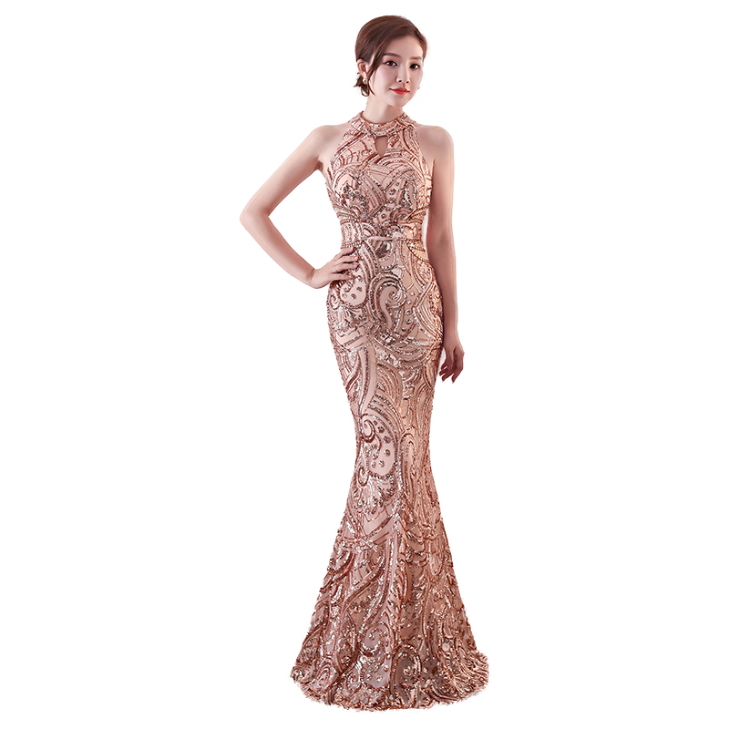 Mermaid Sequin Evening Dress Long Robe De Soiree Evening Gowns For Women Formal Dress Women Elegant Party Dresses Gowns 2020