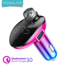 KUULAA Car Charger with FM Transmitter Bluetooth Receiver Audio MP3 Player TF Card Car Kit QC3.0 Fast Charging Car Phone Charger