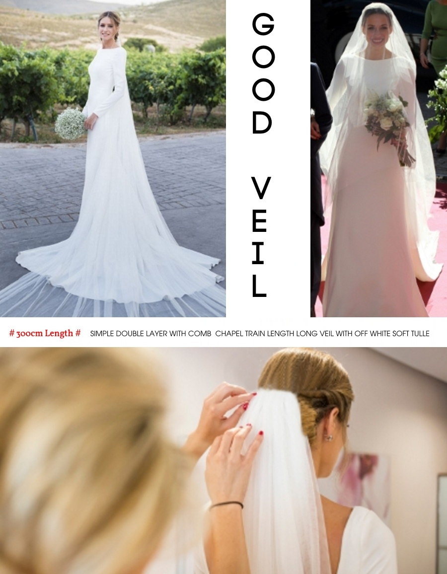 3 Meter Double Layer Bride Veils Bridal Veil Wedding Accessories Headpiece CUTTING Edge Simple