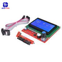 Diymore 12864 display lcd gráfico inteligente placa de controlador com cabo adaptador para rampas impressora 3d 1.4 reprap mendel prusa arduino