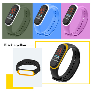 Image 3 - 22 couleurs Bracelet en Silicone Bracelet pour Xiaomi Mi bande 4 montre remplacement Bracelet en TPU Bracelet intelligent sport montre Bracelet
