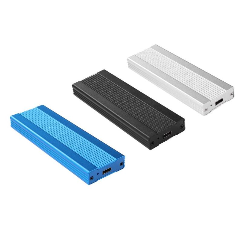 USB3.1 To M.2 NVME Enclosure Case NGFF PCIE To Type-C External Hard Disk Drive Box For PC Laptop Support USB3.1TOM,2KEY-M Ports