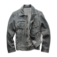 Jacket Genuine-Sheep-Skin Description Vintage Mens Casual Slim Read 1813 Asian-Size