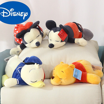 цена на Original 33cm Disney Mickey Mouse Minnie Animal Stitch Winnie Stuffed Plush Toys Doll Christmas Birthday Gift For Children Kids