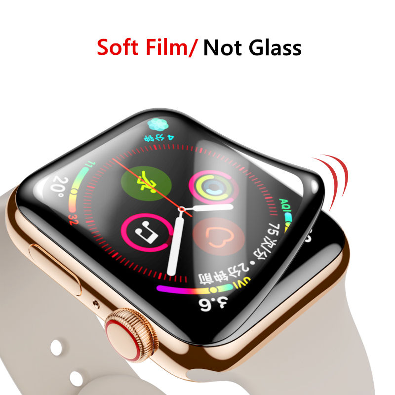 9D HD soft Film For Apple Watch 5 4 44mm 40mm iWatch 42mm 38mm Screen Protector Accessories