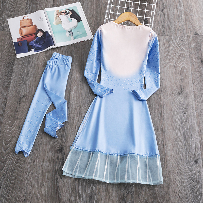 He01706c3902e412b9414b81b705c18e4Y Fancy Girl Princess Dresses Sleeping Beauty Jasmine Rapunzel Belle Ariel Cosplay Costume Elsa Anna Sofia Children Party Clothes