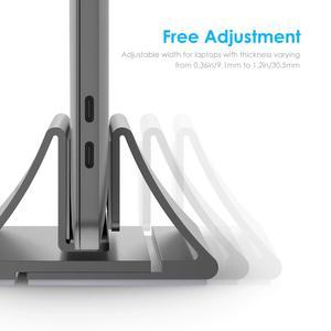 Image 3 - Алюминиевая вертикальная настольная подставка для MacBook Air/Pro 16 13 15, iPad Pro 12,9, Chromebook и ноутбуков от 11 до 17 дюймов