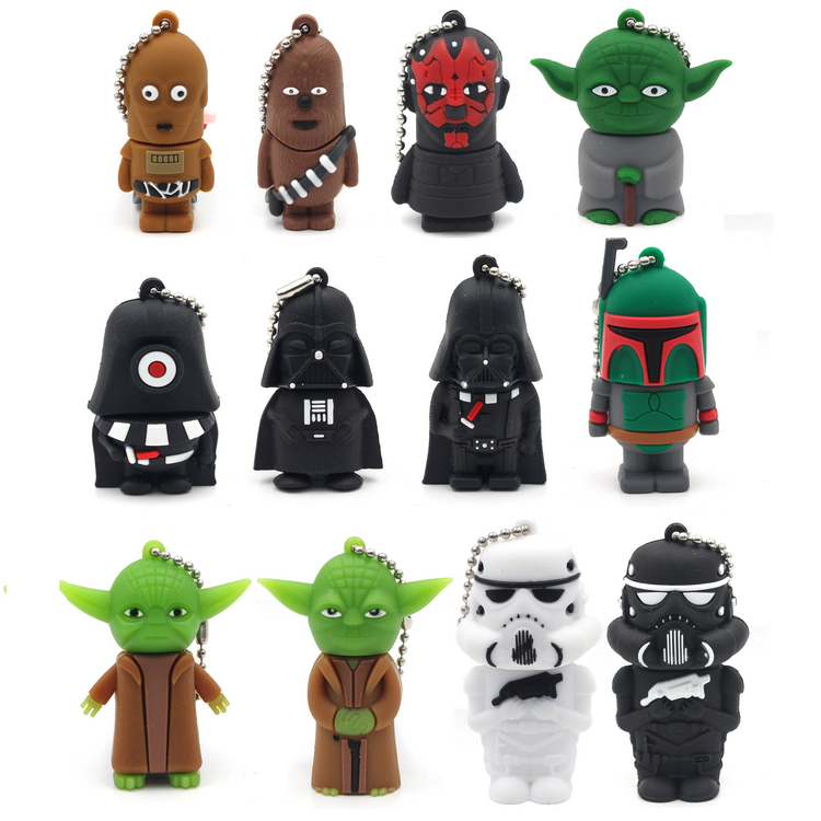 New Sale Wars Star Flash Memory Stick Vader Pendrive 256GB 4GB 8GB 16GB 32GB 64GB 128GB Usb 2.0 Cartoon Usb Drivdriveck Pendrive