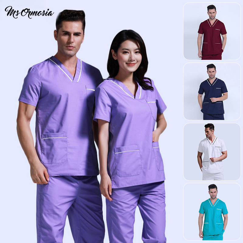 Doctor Surgery Uniforms V-Neck Hospital Beauty Scrubs Medical Uniform Women Sets Surgical Gowns Medical Hand Washing Clothes