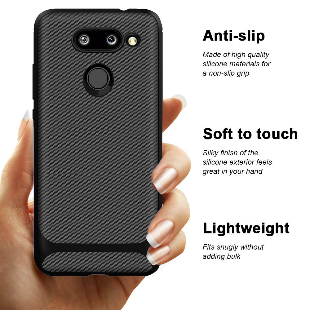Soft TPU Case for <font><b>LG</b></font> <font><b>V50</b></font> V60 G8 <font><b>Thinq</b></font> K40 K50 Phone Cover for <font><b>LG</b></font> Stylo 5 Scratch Resistant & Anti Slip Enhance Gripping cases image