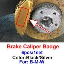 1 conjunto Pinça De Freio Do Carro Do Emblema Do Emblema Adesivos Gadget Auto Para Bmw M X1 X3 X5 X6 E30 E90 M3 E84 E83 F25 E91 E60 F15 F16 E70 F30