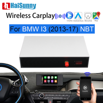 Wireless Carplay Android Auto Mirroring Decoder Retrofit Interface Box Navigation Car play For 2013-2017 BMW i3 i01 NBT System image