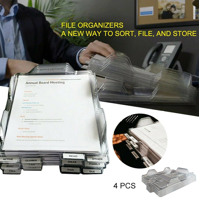 4PCS Office File Organizers A New Way To Sort File And Store Multifunctional Storage Rack NC99