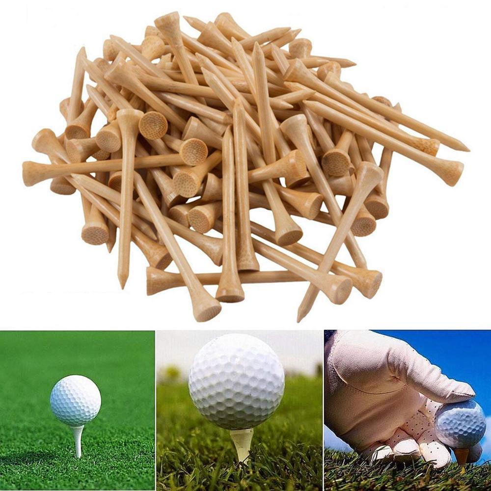 50 / 100pcs Golf Tees Bambus 83mm 70mm unzerbrechliches Tee Golf - Golf - Foto 5
