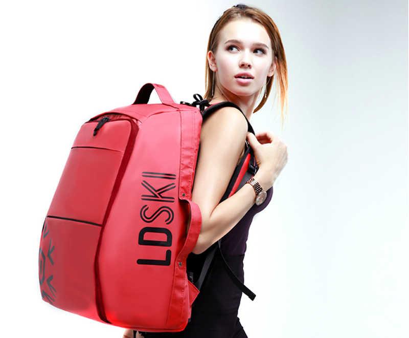 Kayak sırt çantası büyük açık spor çanta dayanıklı su geçirmez malzeme çizme ve kask sırt çantası omuz askıları su geçirmez kat
