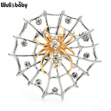 Wuli&baby Spider And Net Brooches For Unisex Pearl Insect Party Casual Brooch Pins Gifts