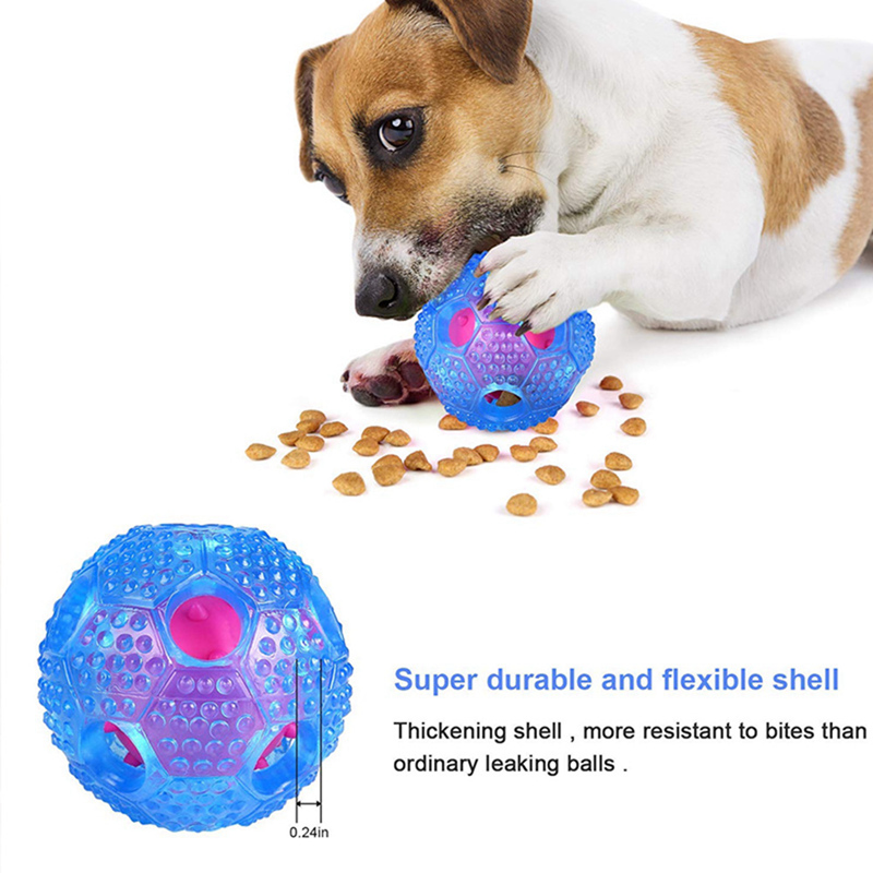 Interactive Dog Ball Slow Food Puzzle Pet Toy Cat Puppy Elasticity Teeth Chew Toys Leak Food Treat Boredom Teeth Cleaning Balls