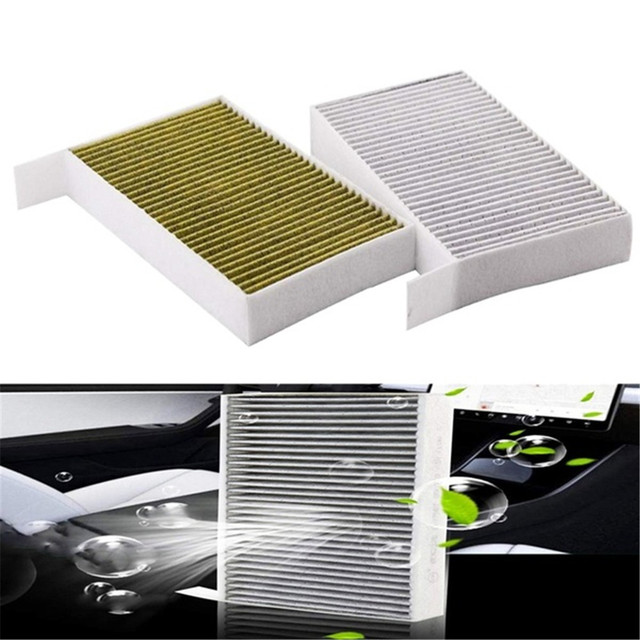 1PC Car Cabin Air Filter Replacement with Activated Carbon for Tesla Model 3 2017 2018 2019 Car Air Conditioning Filter PM 2.5 1