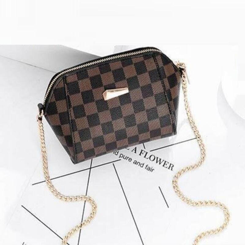 Lady Bags Chain Plaid Design Luxury Women's Bag European And American Fashion Women Shoulder Bag High Quality Pu Messenger Bag