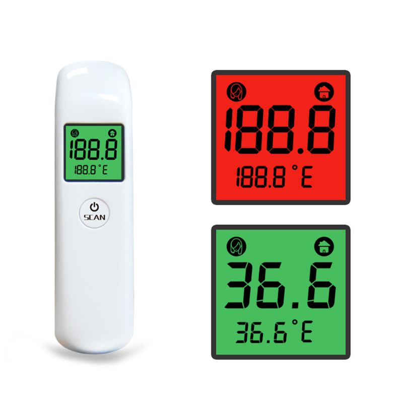 Cyfrowy termometr czołowy na podczerwień ℃/℉ temperatury termometr ciała bez kontaktu z ostrzeżeniem o gorączce dla dorosłych dzieci dziecko