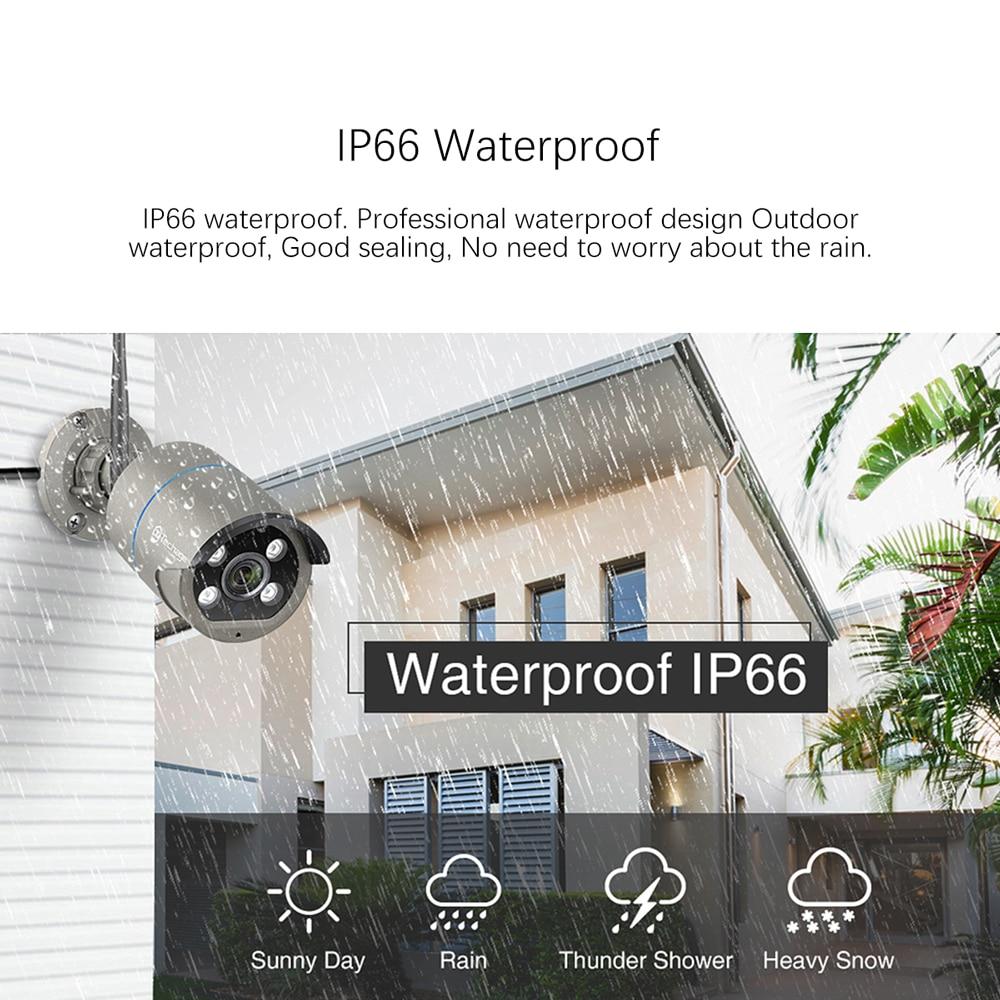 Techage 8CH 1080P Drahtlose CCTV Kamera System 2MP WIFI 2-Weg Audio P2P Outdoor Sicherheit Überwachung 12 zoll LCD Monitor NVR Kit