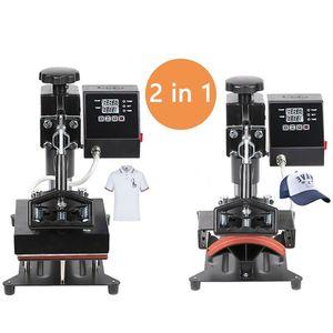 2 в 1 цифровой двойной дисплей крышка термопресс машина 15x15 см принтер логотипа DIY сублимационный принтер Этикетка печатная машина