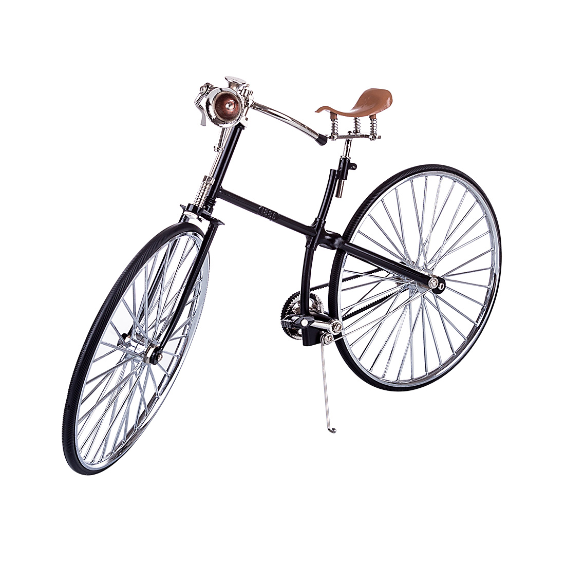 Classic Old Fashioned  Metal DIY Assembly Bicycle Model Simulated Bike Model Home Room Office Decor - FS-0166 Black