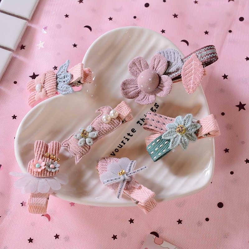 Kinderen 2/5/6 Stks/set Zoete Haarspelden Nieuwe Haarspeldjes Kids Baby Bloem Leuke Cartoon Mooie Kleuren Meisje Haar accessoires Haar Clips