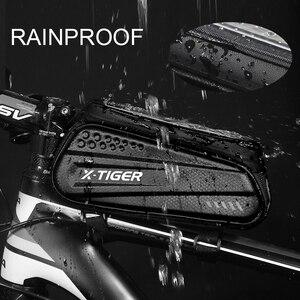 Image 3 - X TIGER torba na rower rama przednia górna rura torba na rower odblaskowa 6.5in etui na telefon ekran dotykowy akcesoria do toreb wodoodporna torba na rower torba na rower