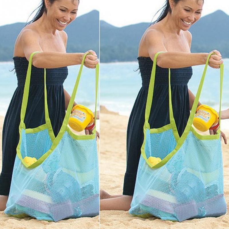 Детская пляжная сумка для игрушек, детская пляжная Сетчатая Сумка для хранения одежды и полотенец, Детская сумка для хранения игрушек, сумк...