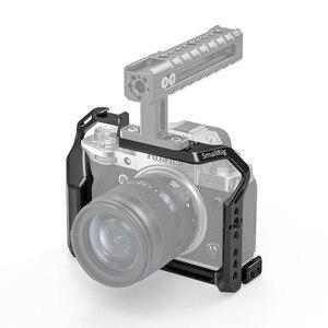Image 3 - SmallRig X T4 Gabbia Fotocamera per FUJIFILM X T4 In Lega di Alluminio Gabbia Con Fredda Shoe Mount/Nato Fotocamera Ferroviario Video Accessori 2808
