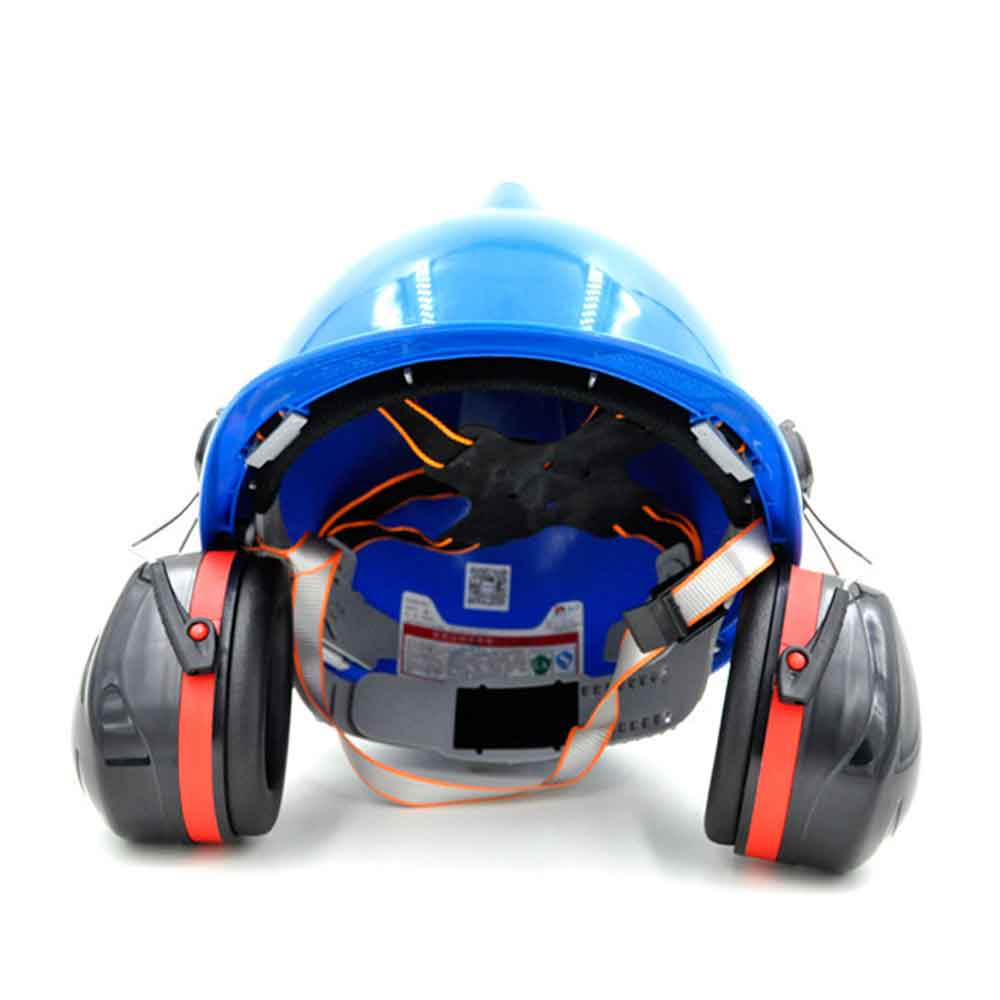 Noise Reduction Ear Muffs On Helmet Attachable Anti Noise Hearing Protection Hard Hat Mounting For Construction Site