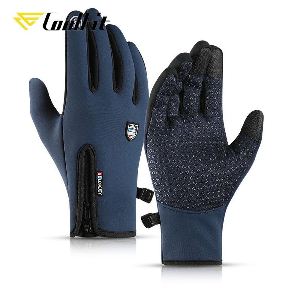 CoolFit Thermal Ski Gloves Men Women Winter Skiing Fleece Waterproof Snowboard Gloves Touch Screen Snow Motorcycle Warm Mittens