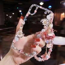 12/11pro Max Bling เพชรสำหรับ iPhone XS MAX 3D ดอกไม้ฝาครอบโทรศัพท์ XR X Handmade คริสตัล Shell 8/7/6/6S Plus Girl ของขวัญ