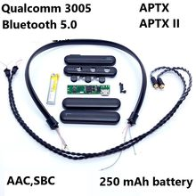 QCC3005 Chip Aptx Bluetooth Headset Assembly Material Bluetooth Upgrade Line Sleeve Wireless HiFi Headphone Repair Parts(China)