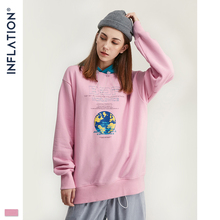 INFLATION 2020 Autumn Men Hip Hop Hoodie Sudaderas Para Hombre Mens Pink Hoodies Street Wear Cotton Terry Women Hoodies 9684W