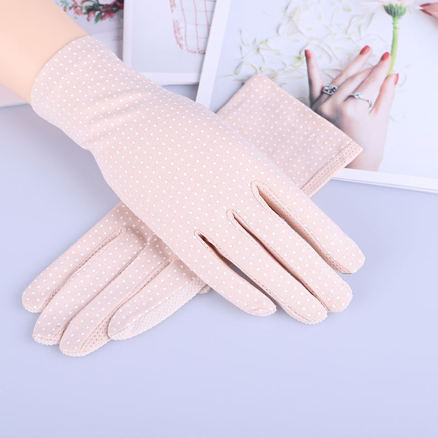 Howfits Spring Summer Driving Gloves Women Touch Screen Thin Cotton Gloves Lace UV Sun Against Non Slip Riding Car Gloves 1