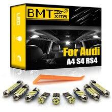 BMTxms для Audi A4 S4 RS4 B5 8D B6 B7 8E B8 8K Quattro Sedan Avant 1996-2018 светодиодный внутренний фонарь Карта Купол багажник лампа комплект Canbus