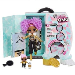 Сюрприз л. О. Л.! О. М. Г. Зимняя Дискотека 24K D. J. Модная Кукла и сестра Лалы кукла для детей игрушка