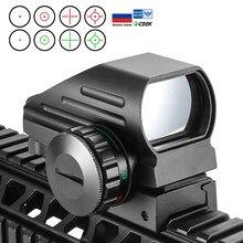 Tactische Reflex Rood Groen Laser 4 Richtkruis Holografische Geprojecteerd Dot Sight Scope Luchtdruk Sight Jacht 11Mm/20Mm rail Mount Ak