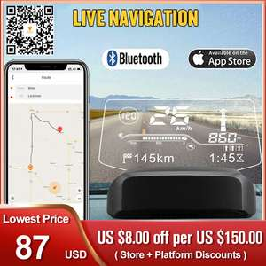 GPS Head-Up-Display Car-Speedometer-Projection On-Board computer Live-Navigation Hud-Speed