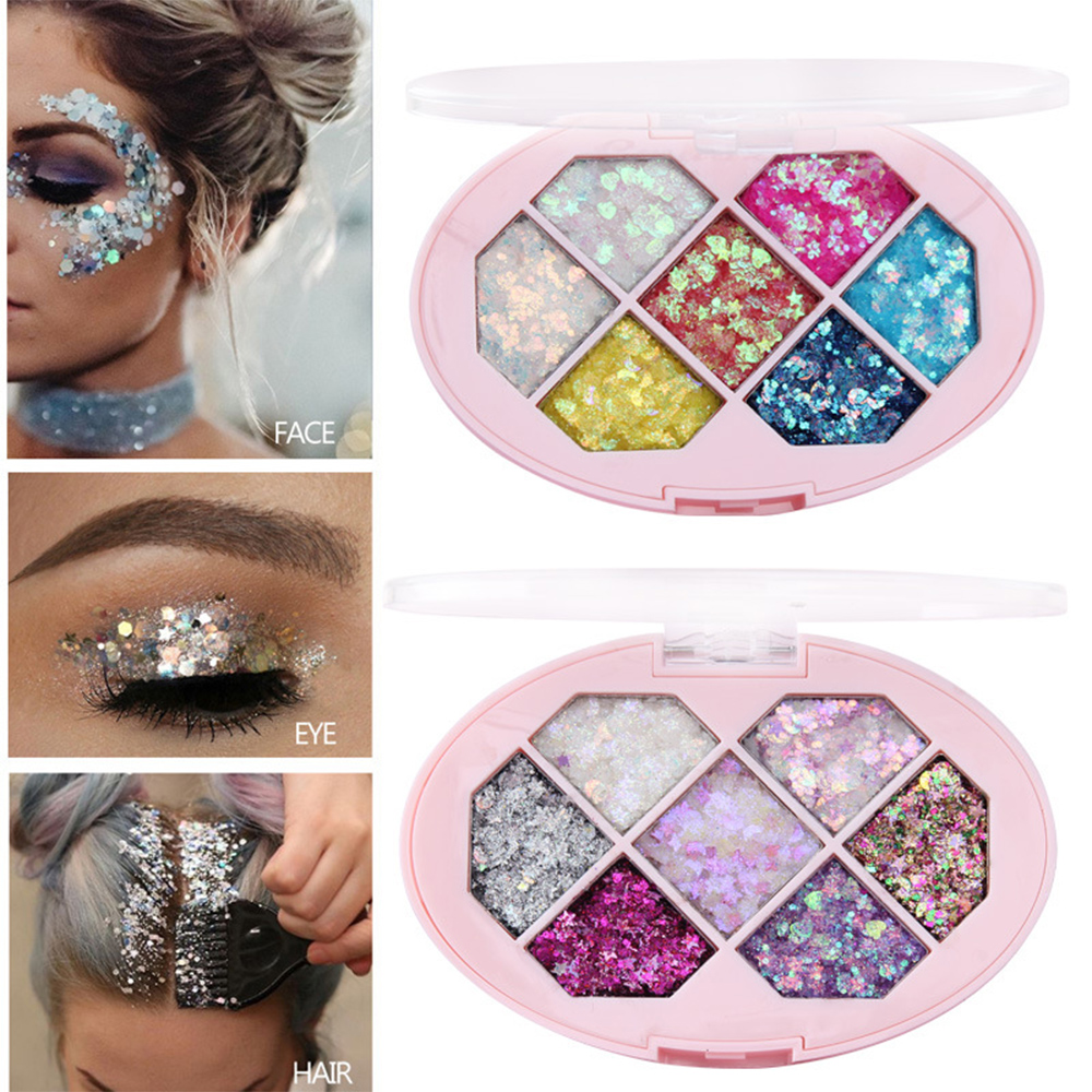CmaaDu 7/14 Colors Makeup Laser Eye Beauty Fashion Glitter Sequins Eyeshadow Super Shiny Body Face Decoration Flakes
