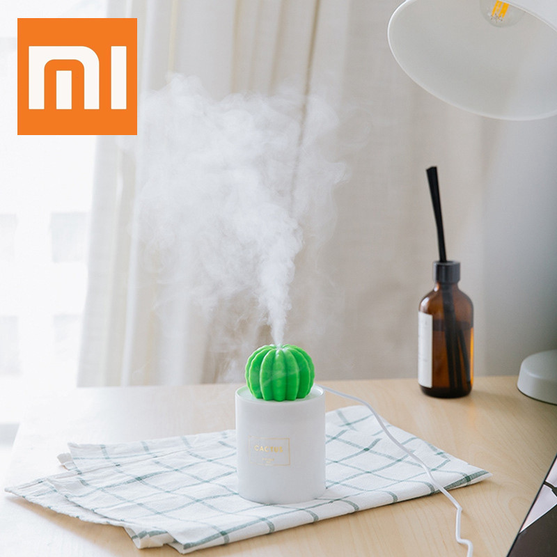 Xiaomi Youpin Air Humidifier Cactus Timing Aromatherapy Diffuser Mist Maker Fogger Mini Aroma Diffuser With Night Light for Home image