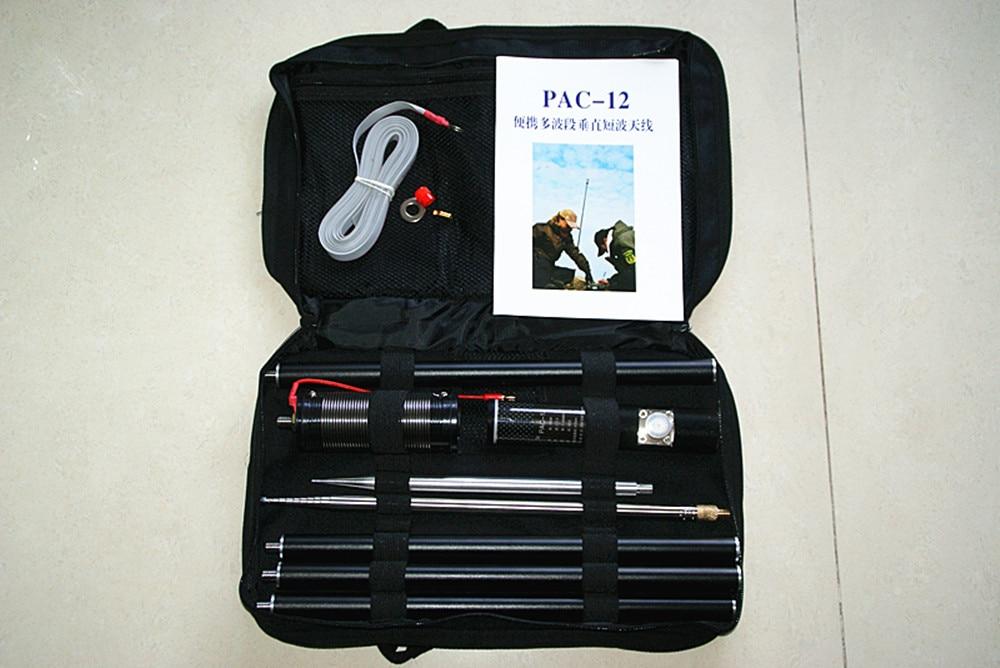Pac-12 antenne à ondes courtes édition compacte antenne verticale multibande Portable Pac-12 Gp avec régulateur de glissière