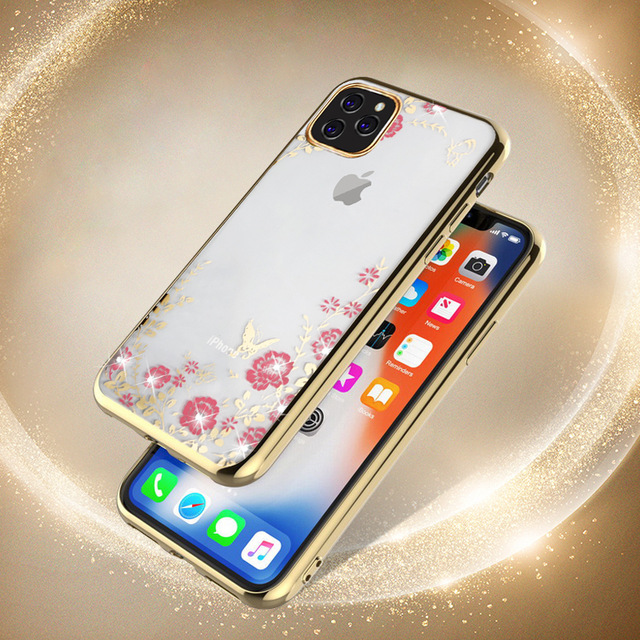 MOESOE Glitter Diamond Flower Case for iPhone 11/11 Pro/11 Pro Max 1