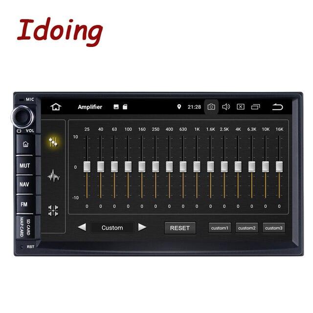 """Idoing 7 """"PX5 4ギガバイト + 64グラム8コアユニバーサル2Din車アンドロイドラジオvedioのプレーヤーipsスクリーンgpsナビゲーション、マルチメディアbluetooth nodvd"""