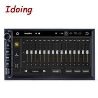 "Idoing 7 ""PX5 4GB + 64G 8 hilos Universal 2Din coche Android9.0 Radio reproductor de video IPS pantalla GPS de navegación Multimedia Bluetooth NODVD"