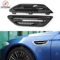 F10 M5 אוטומטי סנפירי פגוש שפתיים ערכת trim עבור BMW M סדרת פחמן סיבי החלפת פגוש אוויר Vent חיצוני לקצץ 2010-2017 2018 2019
