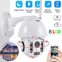 Outdoor WiFi IP Camera Waterproof 2MP 8LED HD 1080P Wireless Dome CCTV IR Night Vision PTZ Security Surveillance NetCam Exterior