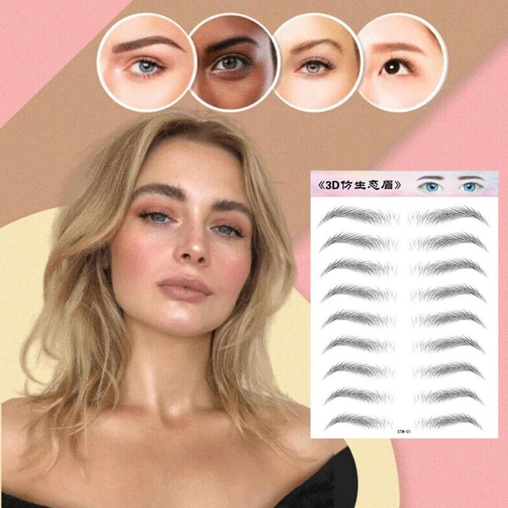 1PC Eyebrow Tattoo Sticker False Eyebrows Waterproof Lasting Makeup Water-based Eye Brow Quick Makeup Stickers Cosmetics image